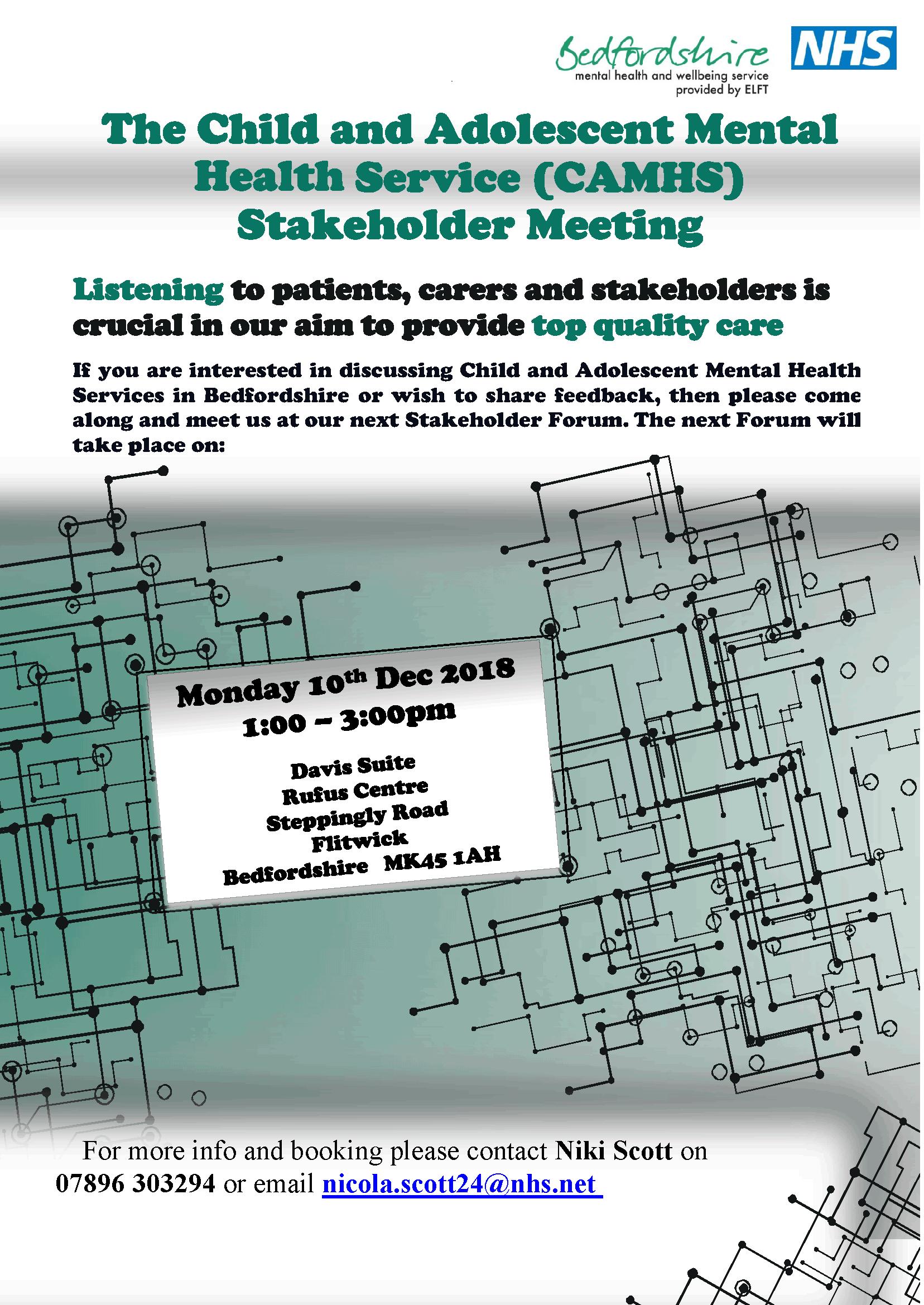 CAMHS-Stakeholder Meeting