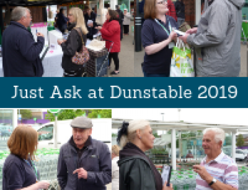 Dunstable Asda kicked off the Just Ask season