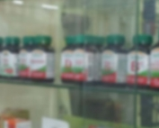 Shelves with pills