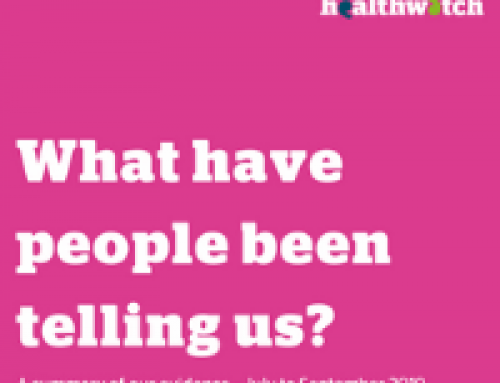 What have people told us about health and social care?