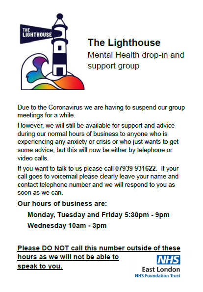 Lighthouse Mental Health Support closure