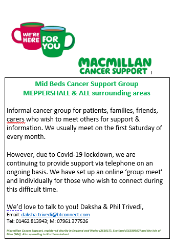 Macmillan cancer support group