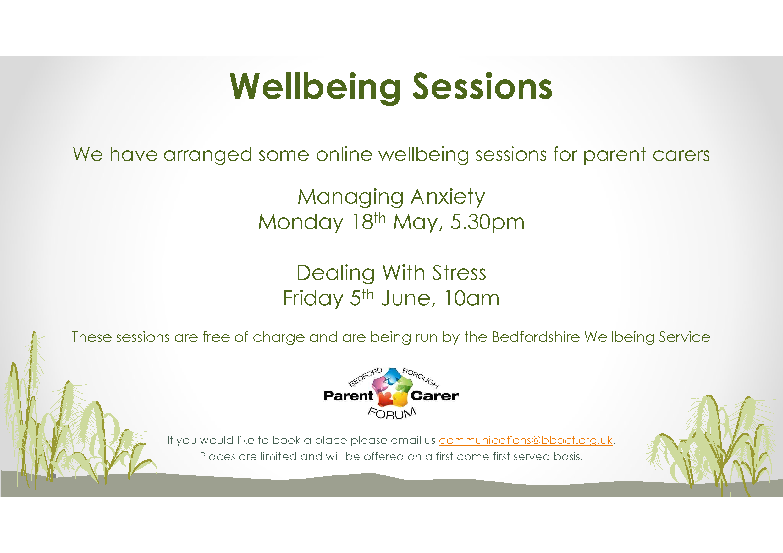 Managing Anxiety online session