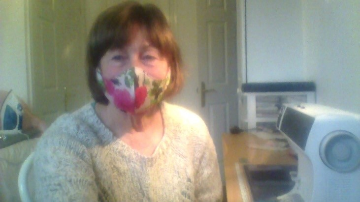 Susan Clarke homemade face mask