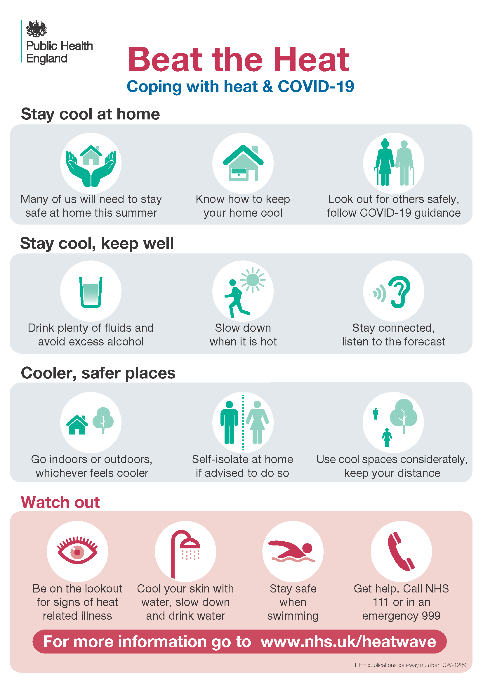 Advice and Tips during the heatwave