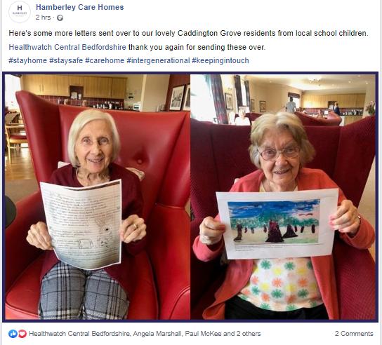 Caddington Grove care home residents