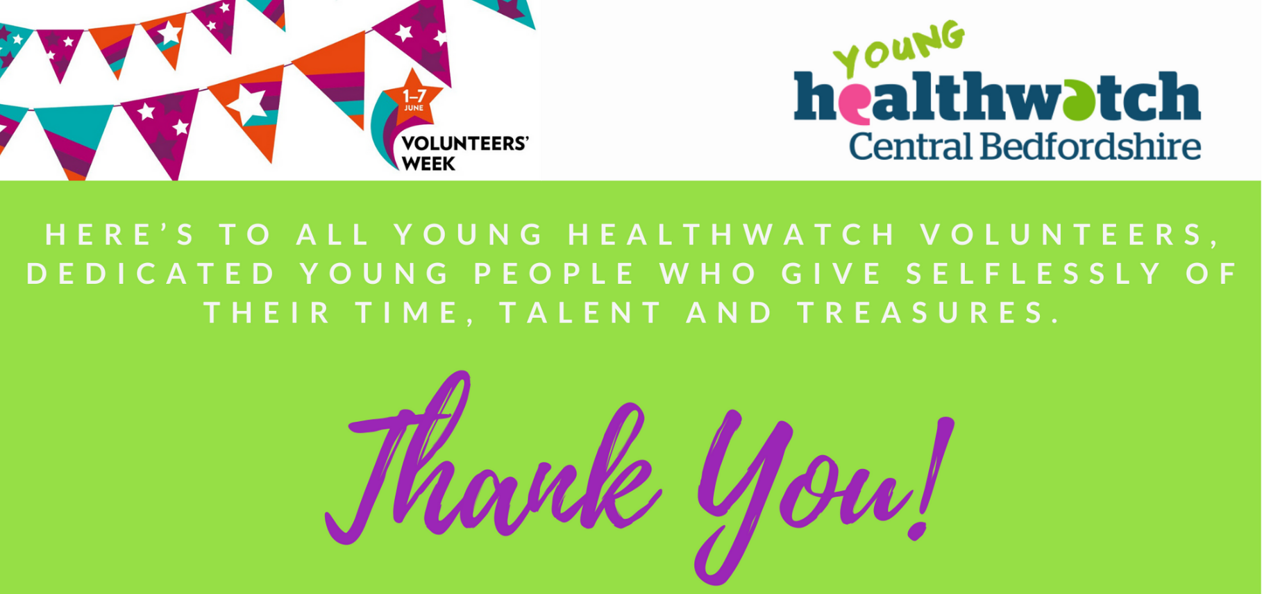 Young volunteers thank you