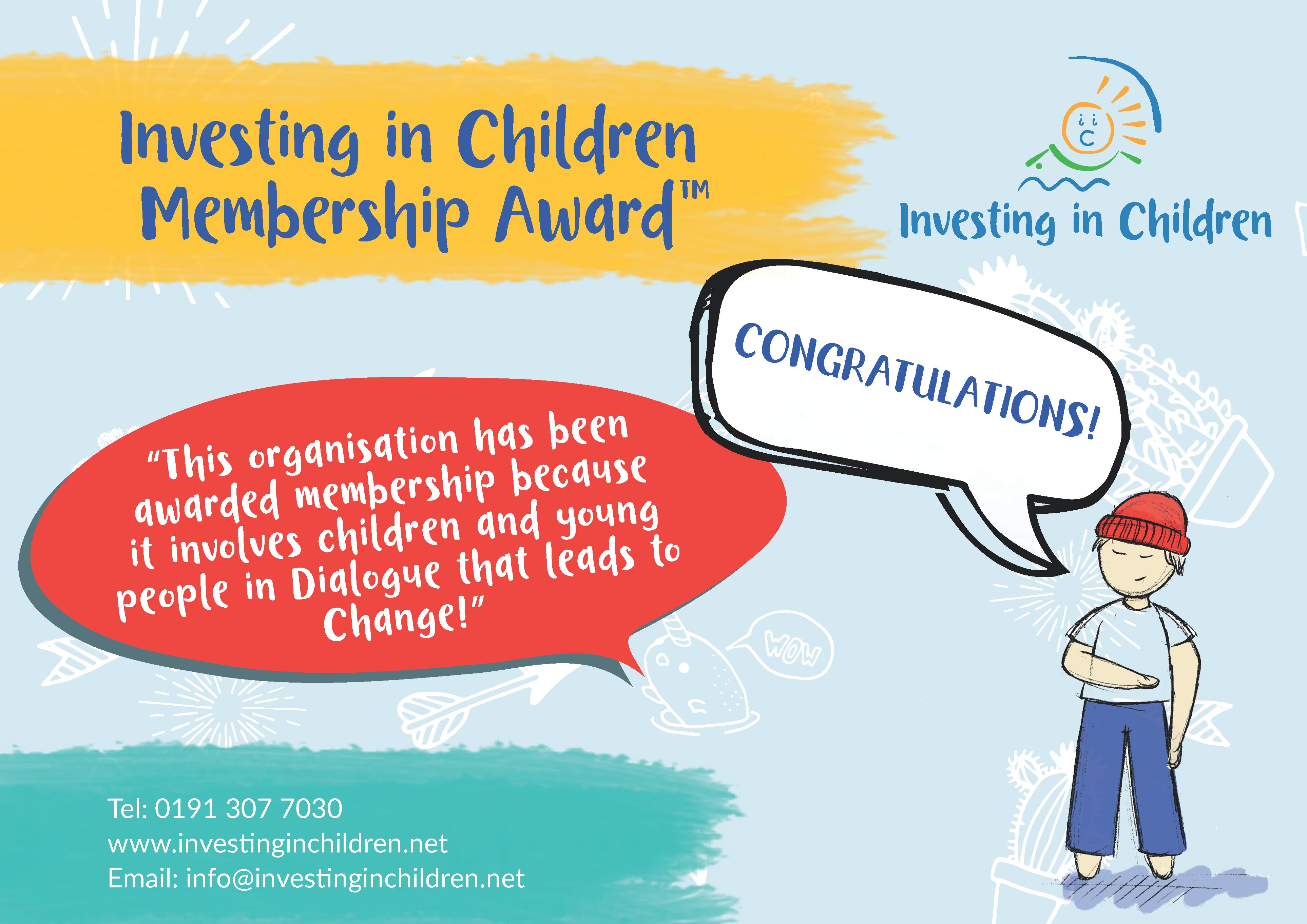 IiC membership award poster
