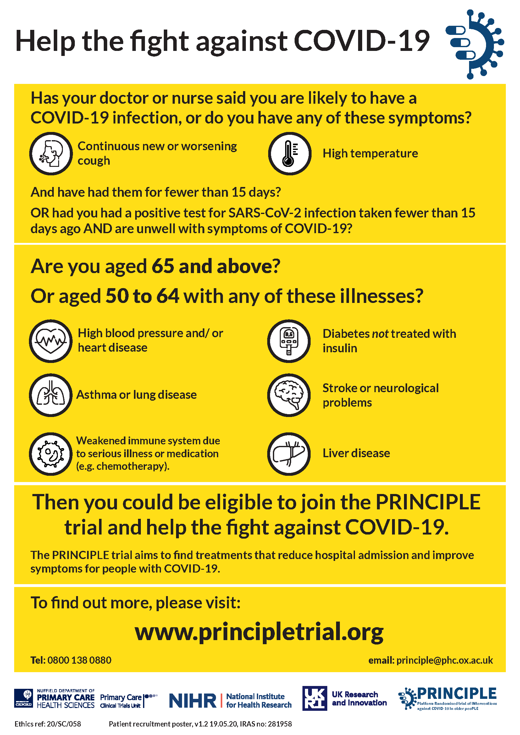 Covid-19 trial poster