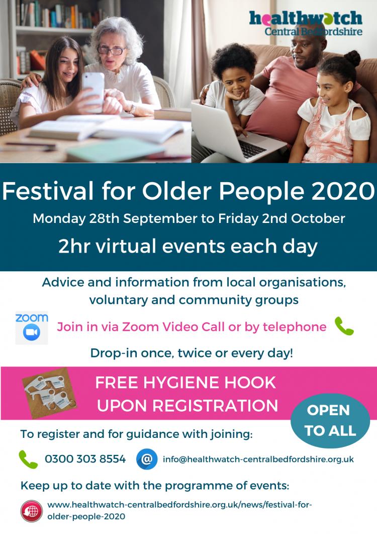 Virtual Festival for Older People poster