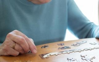Senior lady with jigsaw
