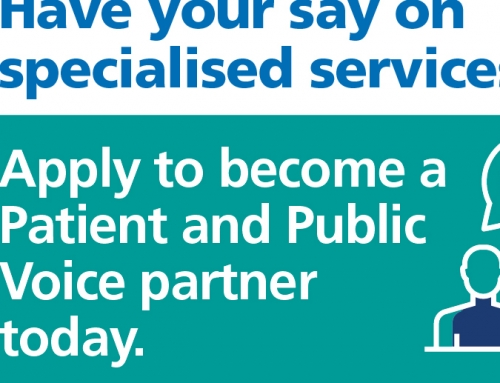 Bring your voice to NHS specialised services
