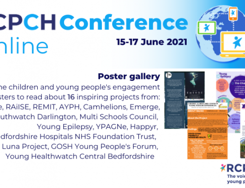 Young Healthwatch to feature in RCPCH Annual Conference 2021