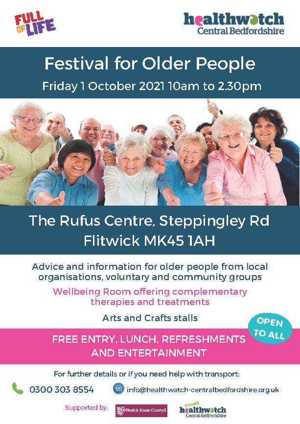 Festival for older people poster